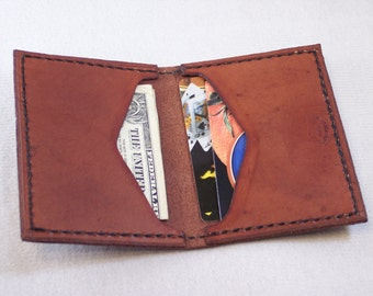 Hand Crafted Leather Wallet Thin Style