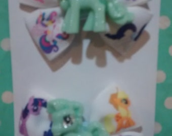 Green My Little Pony Bows