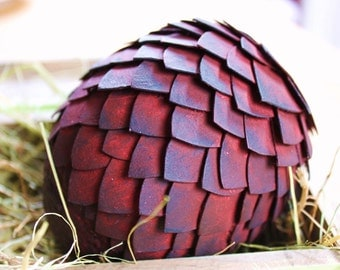 Game of Thrones inspired Dragon Egg Red