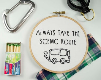 Embroidery // Scenic Route