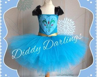 Elsa Coronation Tutu Dress. Elsa Tutu Dress. Coronation Dress. Inspired Handmade Dress All Sizes Fully Customised Frozen Dress Queen Costume