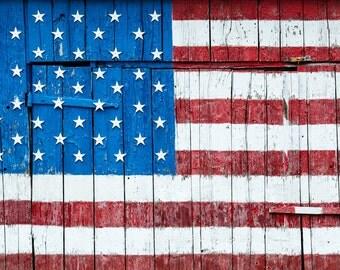 American Flag Canvas Wrap - Stars & Stripes - Fine Art - Americana
