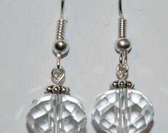 Crystal clear Rondelle earrings