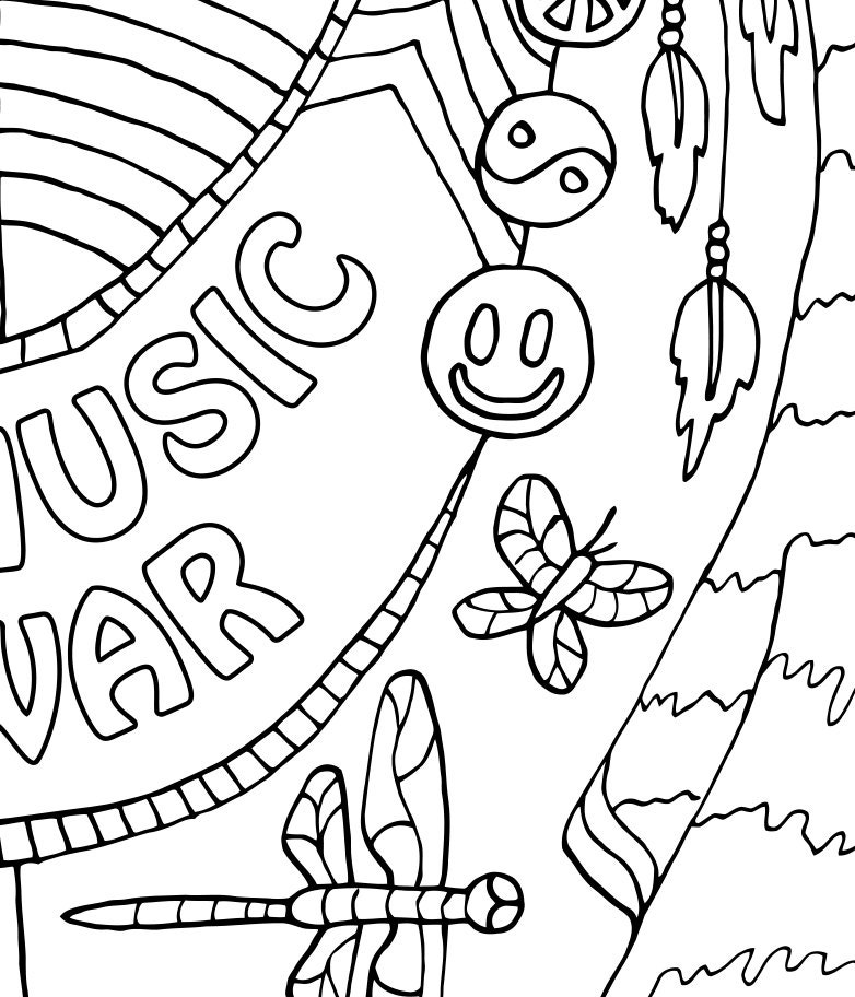 It's just a picture of Inventive Musical Coloring Page