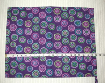 Extra Large (XL) Purple Circles Wrapping Bag with self fabric drawstring