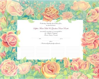 Rose Marriage Certificate