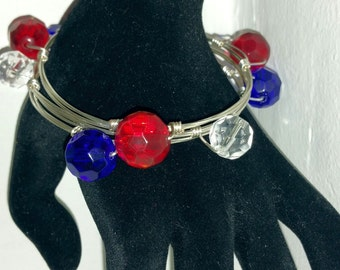 4th of July Wire Wrapped Bangles