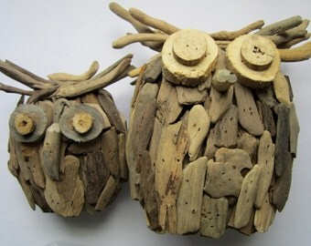 Driftwood Owl-Handmade Wooden Owl-Driftwood Home Decor-Owl Decor-Owl