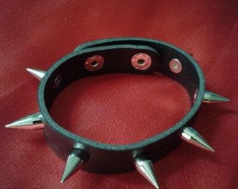 spiked rivet wristband bangle bracelet