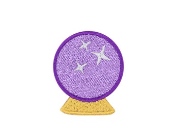 Crystal Ball Emoji Embroidered Iron On Patch - FREE SHIPPING