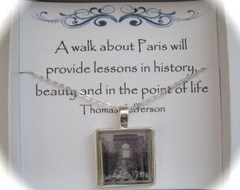 Memories of Paris L'Arc de Triomphe Memory Necklace
