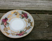 Royal Sealy China, Vintage China Teller, Rose, Gold