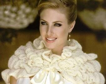 CREAM Wedding Stole Bohemian stole Crochet stole Knit stole Wedding dress Boho stole Knit wrap Bridal shawl Wedding shawl Crochet wrap