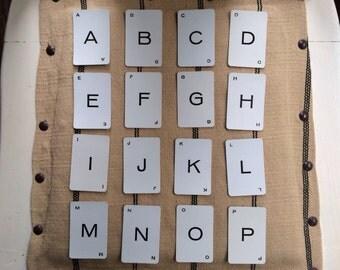 Vintage Probe Cards, Vintage Alphabet Cards