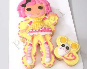 Lalaloopsy Crumbs Sugar Cookie Cake Topper Plastic Commercial grade 1ct.
