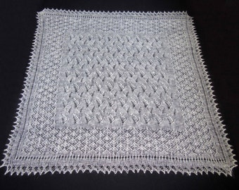 Exclusive goat down white shawl,Hand knitted embroidered shawl ,Gorgeous woman shawl,Wedding shawl,100%Natural materials