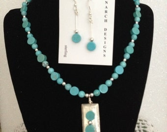 Magnesite and sterling beauty