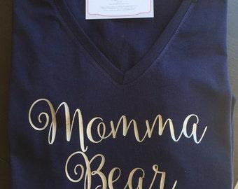 Momma Bear Shirt - Cursive