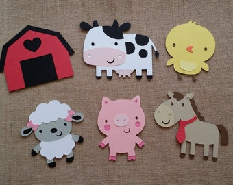 Farm Die Cut set of 6