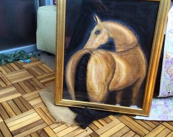 Akhal-Teke Original Oil Painting on Muslin Fabric