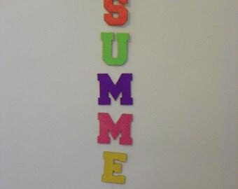 Summer Seasonal Wood Wall Hanging