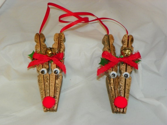 clothespin reindeer craft items similar to clothespin reindeer ornament on 1329