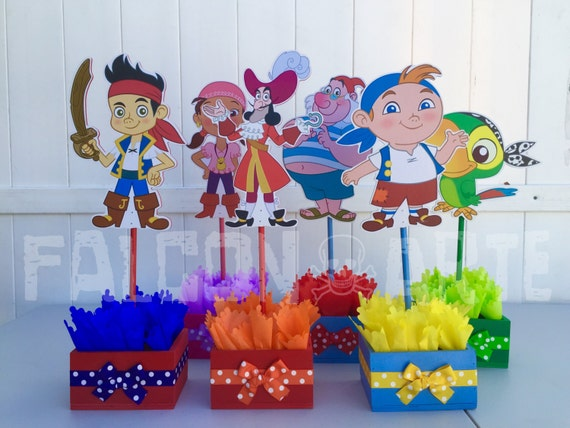 Jake and the Neverland Pirates birthday party wood guest table