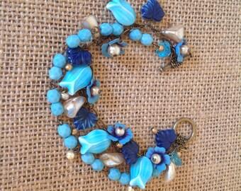 Blue Lily Bracelet