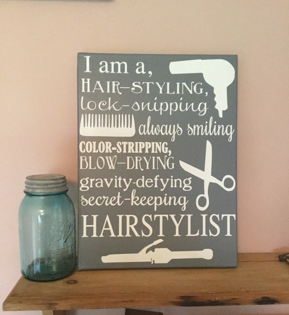 Hairstylist sign beauty salon decor hair salon decor