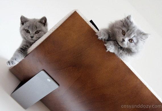 wall mounted shelf ovel cat shelf cat bed cat house soft cushion cat perch cat furniture. Black Bedroom Furniture Sets. Home Design Ideas