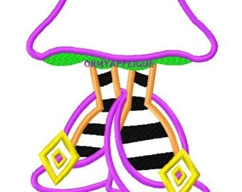 Character Inspired Witch Feet Embroidery Applique Design