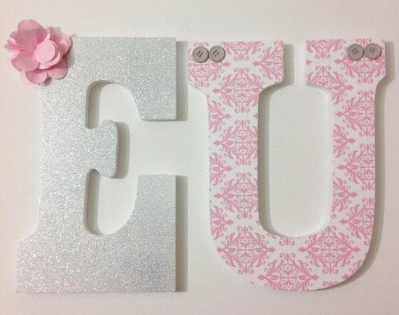 Girl Nursery Letters Wooden Letters Custom Wood Letters