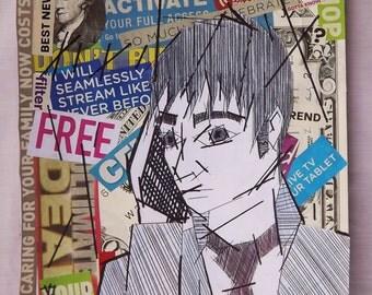 "Consumerism Artwork (12""x9"") Original Artwork"