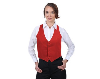 Women's Red Fashion Vest