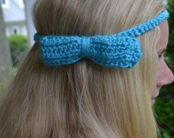 Crocheted Head Band with Bow