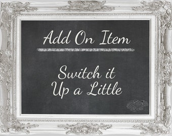 Add On - Switch it Up a Little