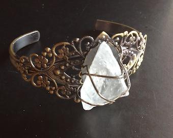 Crystal Quartz Wire-Wrapped Bracelet