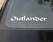 Outlander Vintage style decal for car window or any hard surface including laptop, vehicle, wall etc.