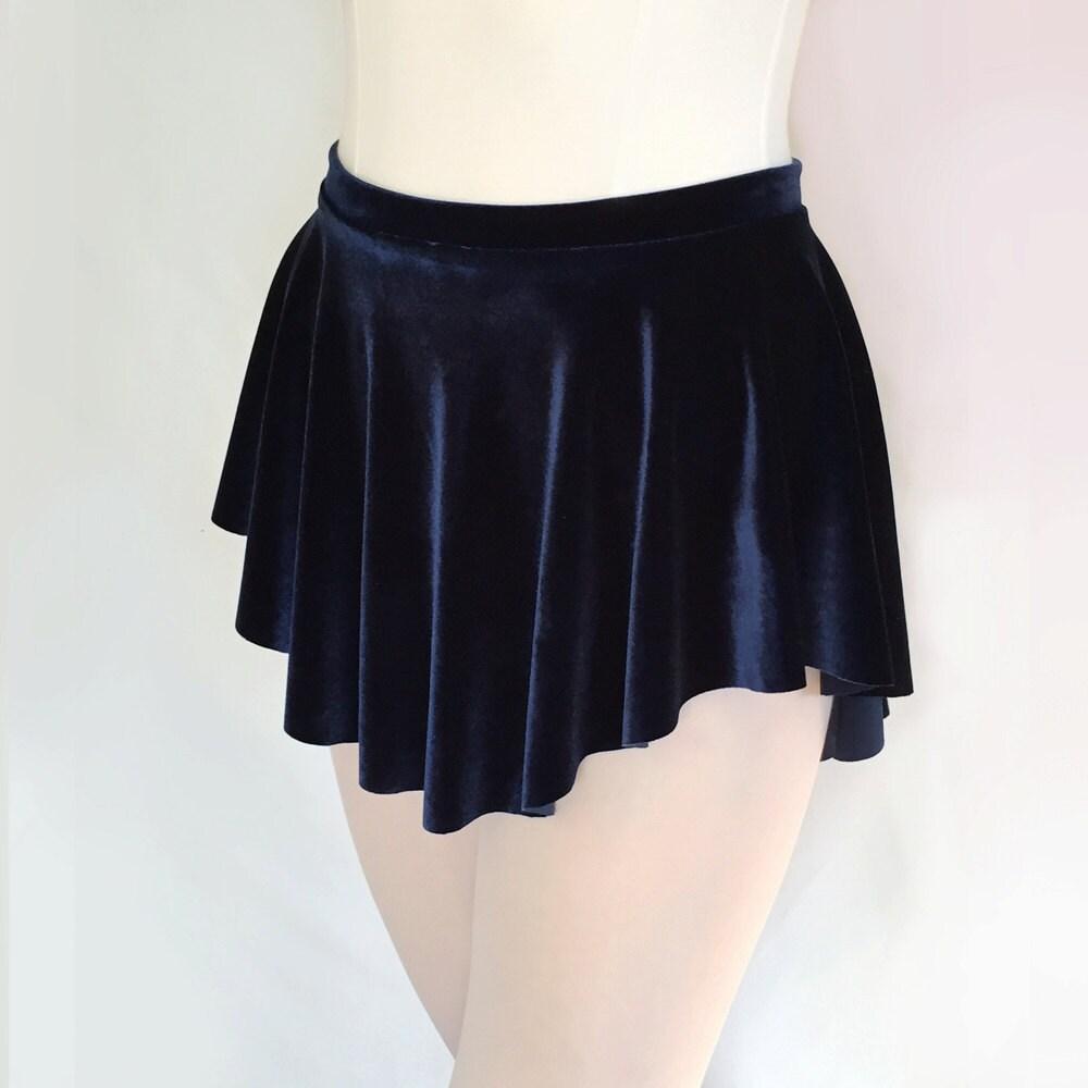 sab skirt midnight blue velvet ballet skirt navy blue