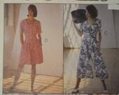 McCalls 5234 Miss 8 10 12 Dresses Split Skirt Dress Romper 1991