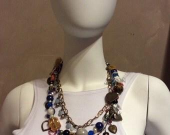 heart charm necklace handmade by carmen bury