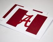 Crimson & White University of Alabama Crimson Tide Greeting Cards | Buy Any 4 Cards, Get 1 FREE!
