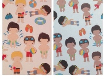 Set of little boy swimmer stickers -  for your EC planner
