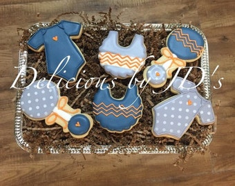 Baby Decorated Cookies - 2 dozen
