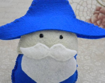 Blue Wizard: Felt Mini Plush