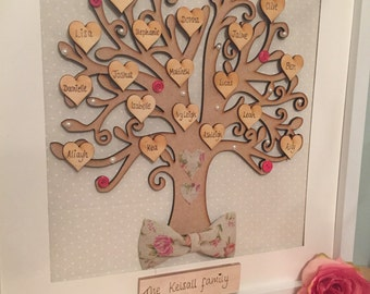Personalised Family tree canvas Perfect for birthdays, Births and anniversaries