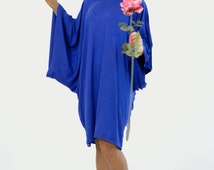 New collection/Royal Blue Spring tunic/Oversized blue dress/Royal blue maxi dress/Plus size tunic/Sexi blue caftan/Woman maxi party tunic