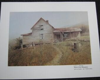 Setzer Cove Homeplace painted by Hubert Shuptrine