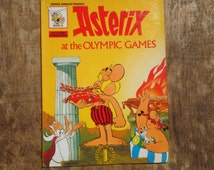 Vintage Asterix at the Olympic Games paperback book English edition by Goscinny and Uderzo Copyright 1968