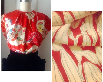 New addition to my designs.. 1940s inspired blouse done in rayon! Beautiful print!